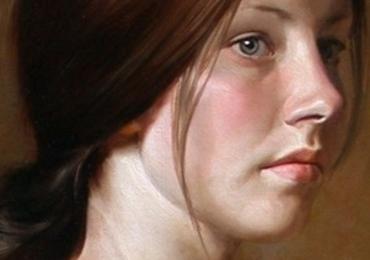 Portret realist la comanda, cadou zi de nastere. Portret  Profil pictat manual in ulei