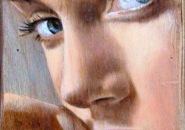 Portret senzual. Tablou portret pictat manual in ulei pe panza. Portrete de femei