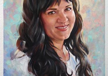 Portret. Portrete pe panza, in ulei, Tablouri pictate manual, Cadouri femei, portrete la comanda, Tablouri pictate  fara rama