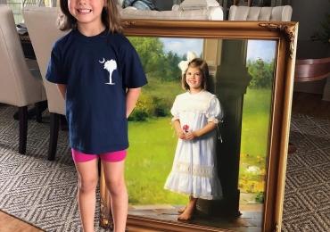 Portrete copii, colectie de tablouri pictura online. Manopera pictura ulei pe panza