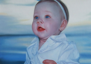 Portrete cu copii, portret pictat la comanda, portrete bust, portret dupa fotografie, portret de copil dupa poza