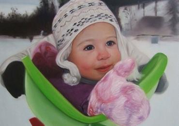 Portrete cu parinti, portret parinti si copii, portret cu mama si copilul, portret tata si fiica, portret tati cu copii, Cadouri pentru botez, portrete la comanda, Tablou pictat dupa poza