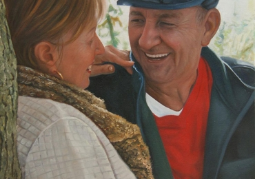 Portrete cupluri, portret cuplu pictura ulei, tablouri cu cupluri, idei de cadouri pentru ziua mamei, idei de cadouri pentru parinti