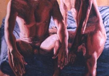 Portrete cupluri, portret cuplu pictura ulei, tablouri cu cupluri , portret de cuplu gay