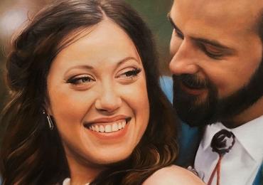 Portrete cupluri, portret cuplu pictura ulei, tablouri cu cupluri, portret de indragostiti, idei de cadouri pentru sot, idei de cadouri pentru sotie