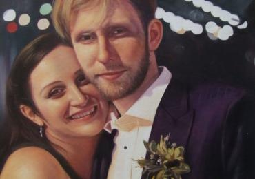 Portrete cupluri, portret cuplu pictura ulei, tablouri cu cupluri, portret de mire si mireasa