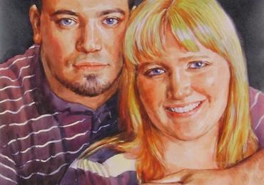 Portrete cupluri, portret cuplu pictura ulei, tablouri cu cupluri, portret sot sotie