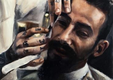 Portrete de barbat la hair stilist la comanda, pret manopera pictura in ulei