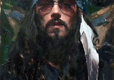 Portrete de barbati pictate manual dupa poza, pret manopera pictura in ulei