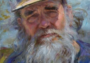 Portrete de bunic la comanda, pret manopera pictura in ulei pe panza
