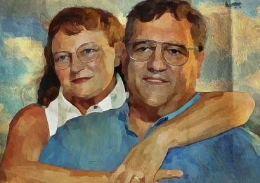 Portrete de familie la comanda pictate in tempera si tus, tehnica media mix