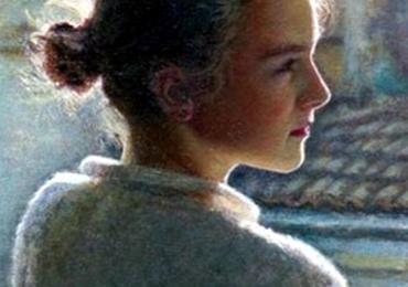 Portrete de fetita din profil la comanda, pret manopera pictura