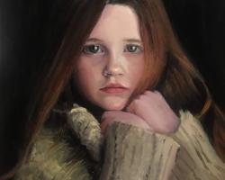 Portrete de fetite la comanda pictat manual in ulei pe panza. Portrete cu copii
