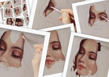 Portrete femeie, tablou la comanda, portret bust, pret manopera pictura in ulei pe panza