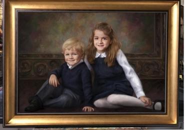 Portrete frate si sora la comanda,Portrete pictate la comanda