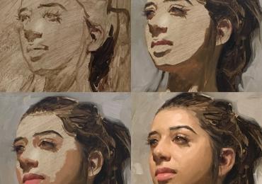 Portrete frumoase. Portrete feminine. Portrete pictate manual dupa poza.