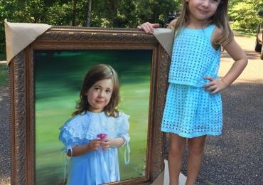 Portrete la comanda, Tablouri pictate in ulei,  Portrete pictate,  Portrete celebre cu copii Dvs