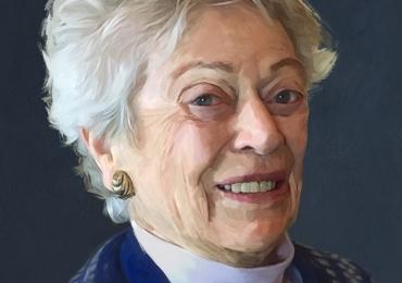 Portrete la comanda pictate in tempera si tus, tehnica media mix, portret de bunica