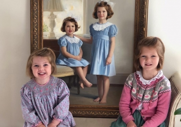 Portrete la comanda, pictura in ulei, Tablouri pictate manual, portret de fetite, idei de cadouri pentru copii tai