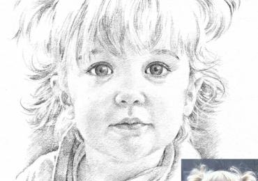 Portrete la comanda, picturi dupa poze, Tablouri   personalizate, Cadouri aniversare copii, portrete la comanda, Tablou desenat in tus carbune si creion
