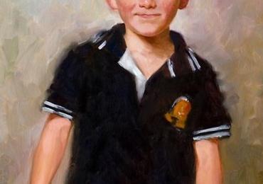 Portrete la comanda, portret de baietel, pret manopera pictura