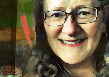 Portrete la comanda, tablouri abstracte pictate in tempera si tus, tehnica media mix