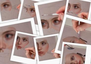 Portrete online. Tablou pictura panza. Tablouri cu portrete pictate de artist plastic