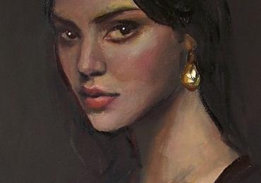 Portrete pictate manual dupa poza, portrete frumoase. portrete feminine