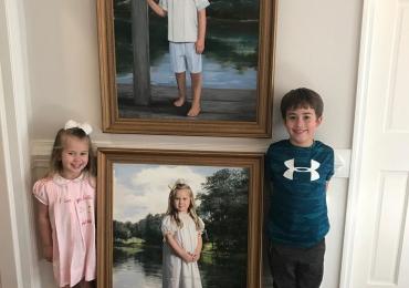 Portrete pictate manual in ulei pe panza, portret de colectie, pret pictura portrete