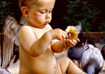 Portrete pictate manual, portret la comanda, cele mai frumoase tablouri copii.