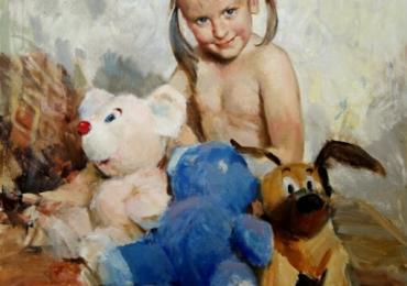 Portrete reusite la comanda, Tablouri pictate manual, Portret cu copii, portret cu copilul Dvs, portret dupa poza ta