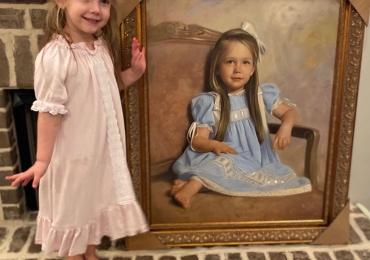 Portrete si rame de tablouri la comanda, Tablouri pictate personalizate, portret pentru camera copilului