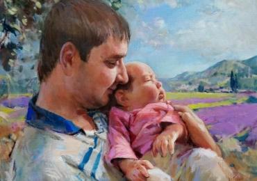 Portrete si tablouri la comanda, Tablouri pictate in ulei,  Portret la comanda, portret tata si fiu