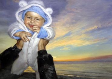 Realizez tablouri la comanda cu bebelusi, Tablouri pictate pe panza, tablouri canvas copii