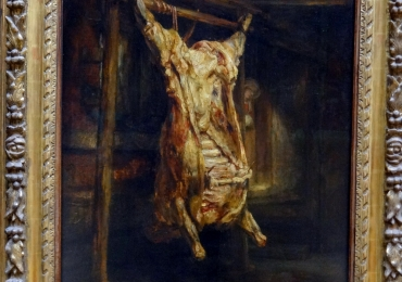 Rembrandt Harmensz. van Rijn, called Rembrandt, The slaughtered ox, Tablou natura moarta cu bou transat in abator