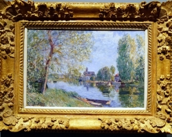 Renoir Spring in Moret sur Loing, 1891tablou peisaj de vara cu rau, Tablouri Pictori Celebri, Reproduceri Picturi Celebre