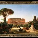 Reproducere pictura celebra tablou cu colosseum, vedere a colosseumului din