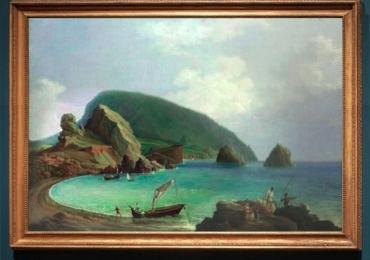 Reproducere pictura celebra tablou peisaj marin, vedere din AyuDag in Crime