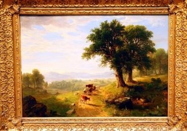 River Scene Asher B. Durand, tablou peisaj de vara , tablou peisaj pastoral, tablouri Pictori Celebri, Reproduceri Picturi Celebre