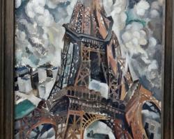 Robert Delaunay, Eiffel Tower, tablou peisaj abstract, Tablouri Pictori Celebri, Reproduceri Picturi Celebre