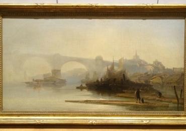 Rochester City Landscape River Medway James BakerTablou cu peisaj de vara, tablou cu lac peisaj din natura