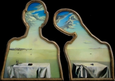 Salvador Dalí, Couple with heads full of clouds, 1936, Tablou natura moarta, tablou natura statica