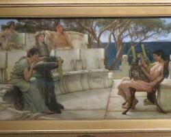 Sappho and Alcaeus 1881, Lawrence Alma TademaTablouri Pictori Celebri, Reproduceri Picturi Celebre