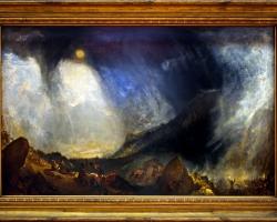 Snow Storm, Hannibal and his army crossing the Alps exhibited 1812, Joseph Mallord William Turner, Tablou cu peisaj marin cu vapoare, tablou cu valurile marii, tablou nautic, tablou cu furtuna pe mare