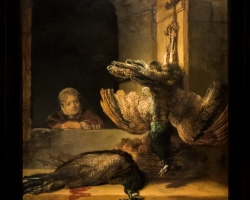 Still Life with Peacocks 1639, Rembrandt Harmensz. van Rijn, Tablouri natura moarta Realizate