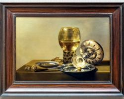 Still-life with Wine Glass and Silver Bowl, Claesz Pieter, Tablouri natura moarta Realizate la Co