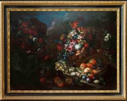 Still life with flowers and fruit, Tablouri  natura moarta Realizate la Comanda, Reproduceri Pict