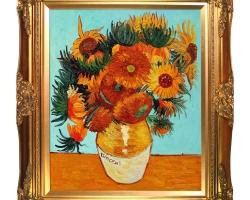 Sunflower, Vincent Van Gogh, Buchet de floarea soarelui, tablou cu flori galbene, tablou floral