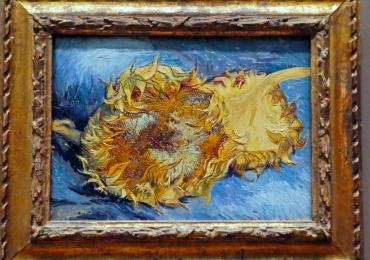 Sunflowers by Vincent van Gogh, Vas cu fioarea soarelui, tablou cu flori galbene, tablou cu flori de toamna, tablou floral, tablou cu flori de camp