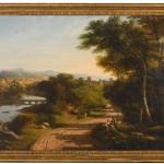 THOMAS CHRISTOPHER HOFLAND, Castellamare; taken from the new road leading to Sorrento, ItalyTablou cu peisaj de vara, tablou cu rau, peisaj din natura